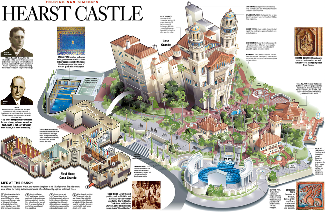Hearst Castle California Map.California Day Trip Hearst Castle The Trendy Block
