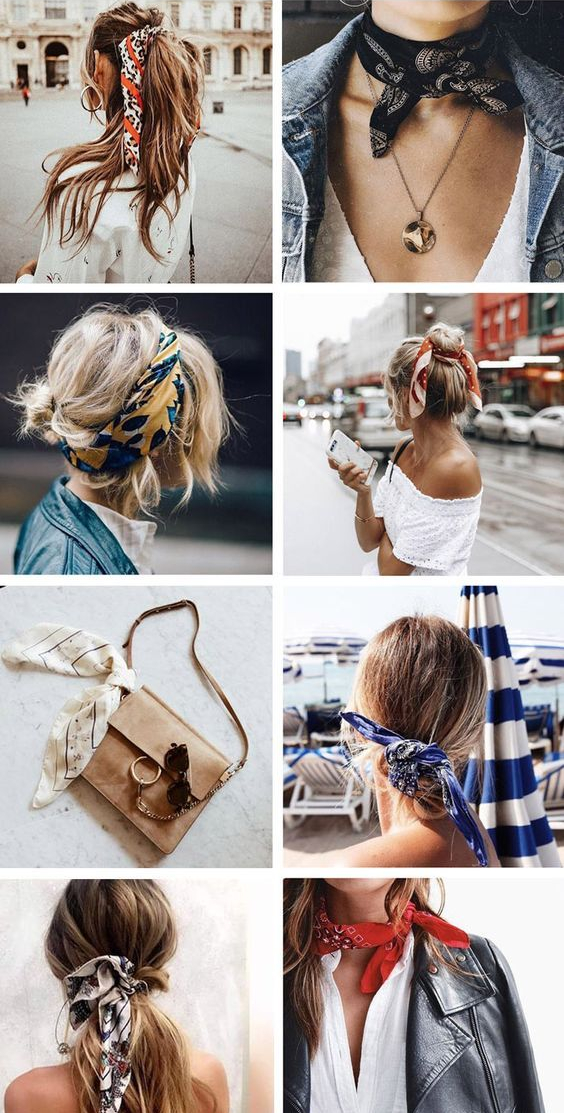 How to Wear Bandana Scarves
