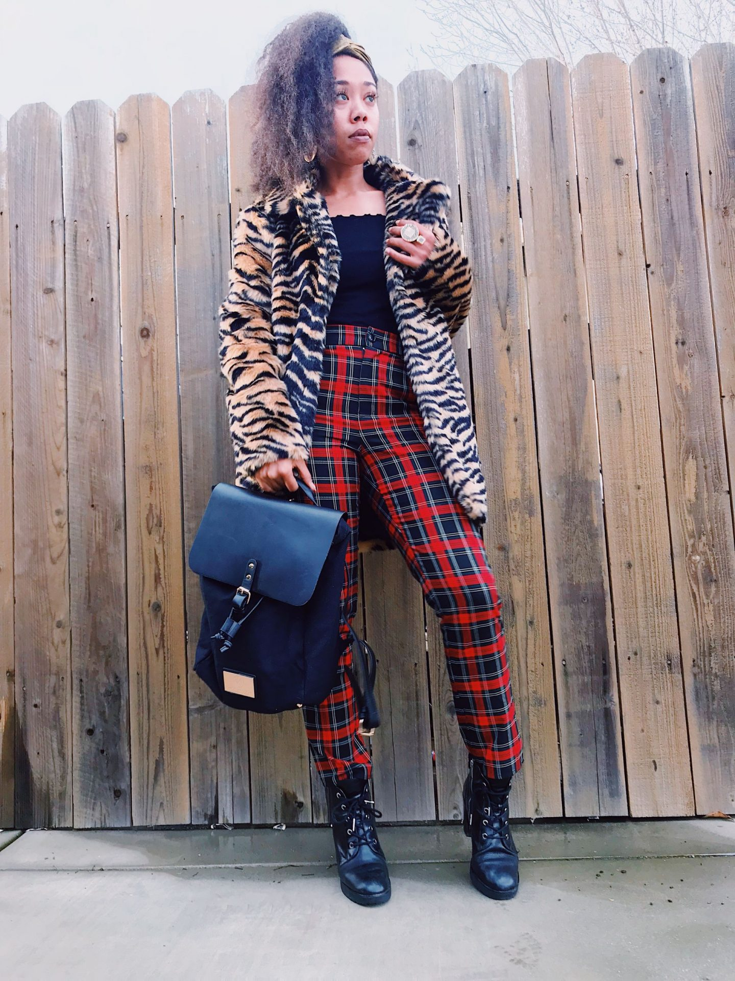 Holiday Look Book Day 3 – Red Plaid Pants