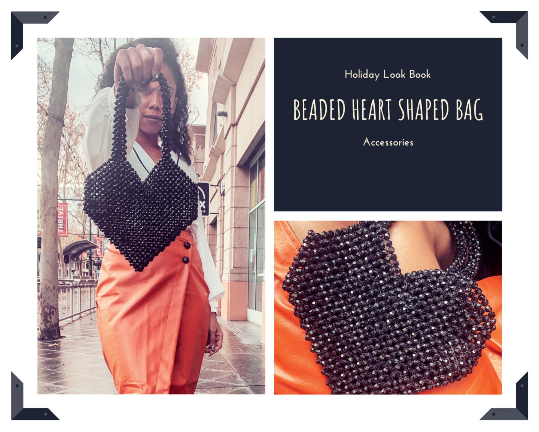 Modcloth Beaded Heart Shaped Bag
