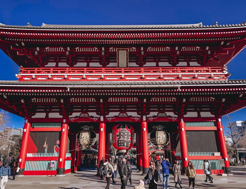 Asakusa Sensoji Temple Tokyo Japan Kaminarimon