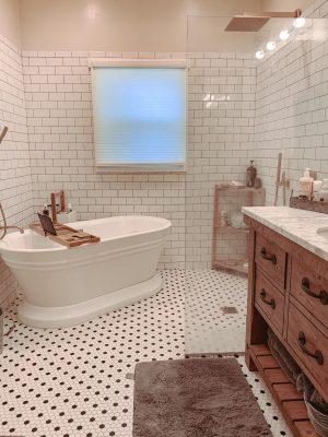 Trendy Bathroom Remodel, Farmhouse remodel